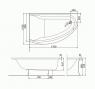 Купить Ванна Kolo Mirra 170X110 R