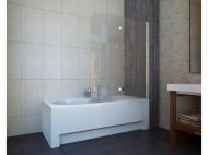 Шторка на ванну Koller Pool 1150x1400 chrome; grape QP97(right)