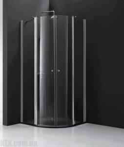 Душевая кабина полукруглая Koller Pool 900x900x1950 chrome; clear QF90, фото