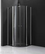 Душевая кабина полукруглая Koller Pool 900x900x1950 satin; clear QF92