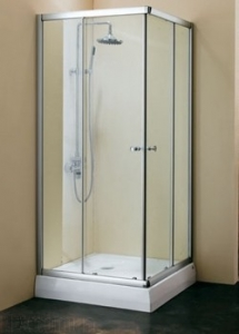Душевая кабинка Koller Pool 800x800x1850 chrome; grape NC80, фото