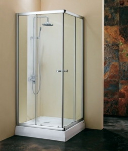 Душевая кабинка Koller Pool 900x900x1850 white; grape NC90, фото