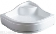 Душевой поддон с сиденьем (миниванна) Koller Pool 900x900x400 white EF91