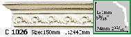 Карниз Gaudi Decor C 1026 (2.44м)