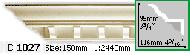 Карниз Gaudi Decor C 1027 (2.44м)
