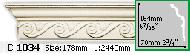 Карниз Gaudi Decor C 1034 (2.44м)