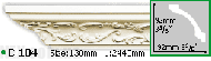 Карниз Gaudi Decor C 104 (2.44м)
