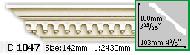 Карниз Gaudi Decor C 1047 (2.44м)