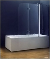 Шторка на ванну Koller Pool 1150х1400 chrome; grape QP96(left)