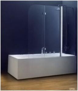 Шторка на ванну Koller Pool 1150х1400 chrome; grape QP96(left), фото
